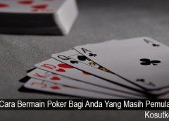 Cara Bermain Poker Bagi Anda Yang Masih Pemula